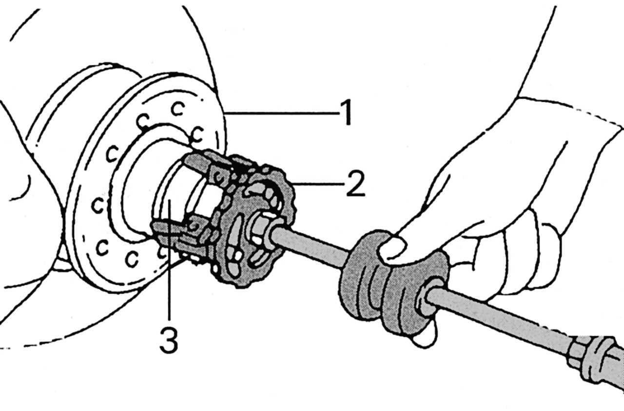 1 - ротор колесного датчика 2 - фланец ступицы