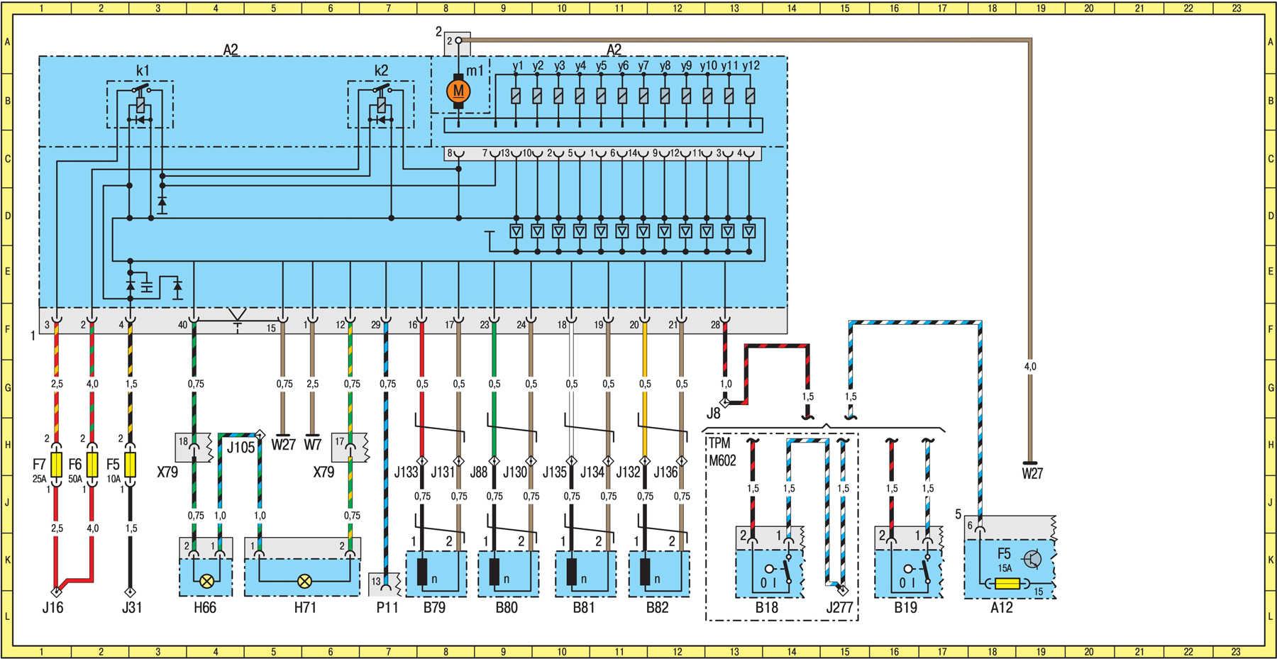 Схема блока предохранителей на мерседес спринтер
